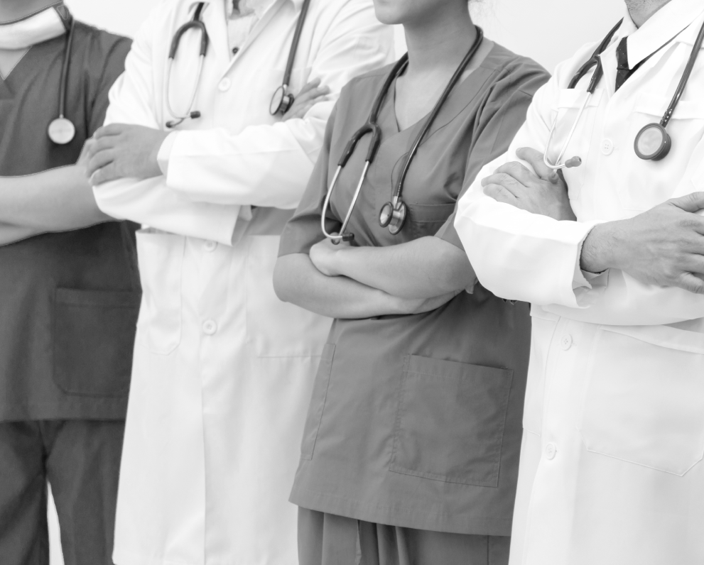 """Doctors with arms crossed 