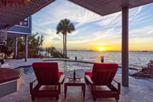 beautiful-view-of-swimming-pool-and-tampa-bay-at-sunset