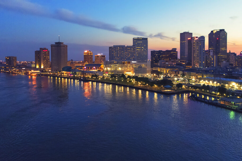aerial-view-of-new-orleans-at-sunset-louisiana-2