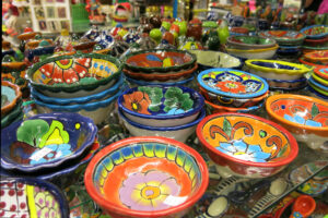 colorful-mexican-kitchen-bowl-pottery-with-flower-patterns